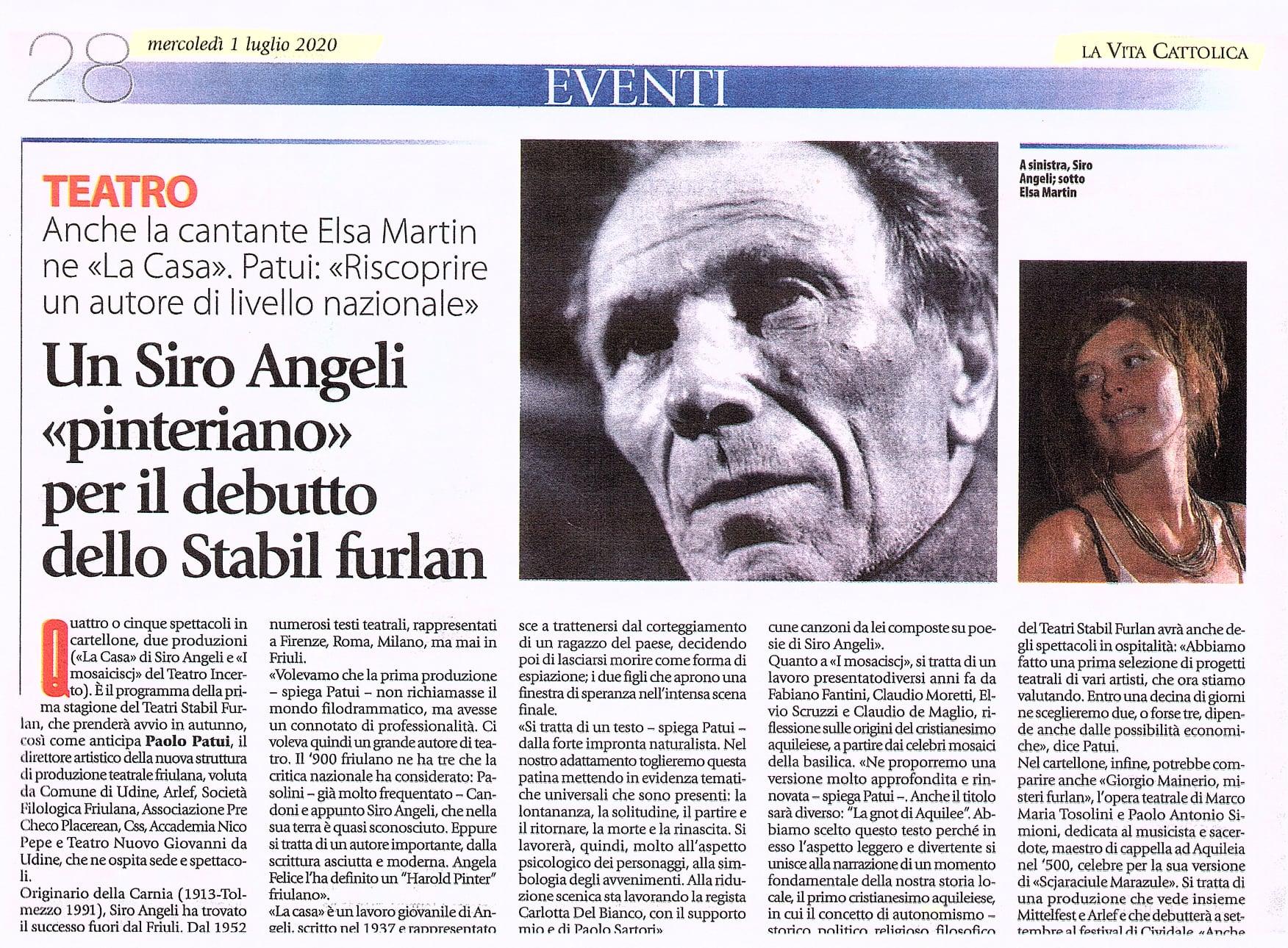 Doro Gjat e Siro Angeli nel nuovo cartellone del Teatri Stabil Furlan «Si punta alla qualità